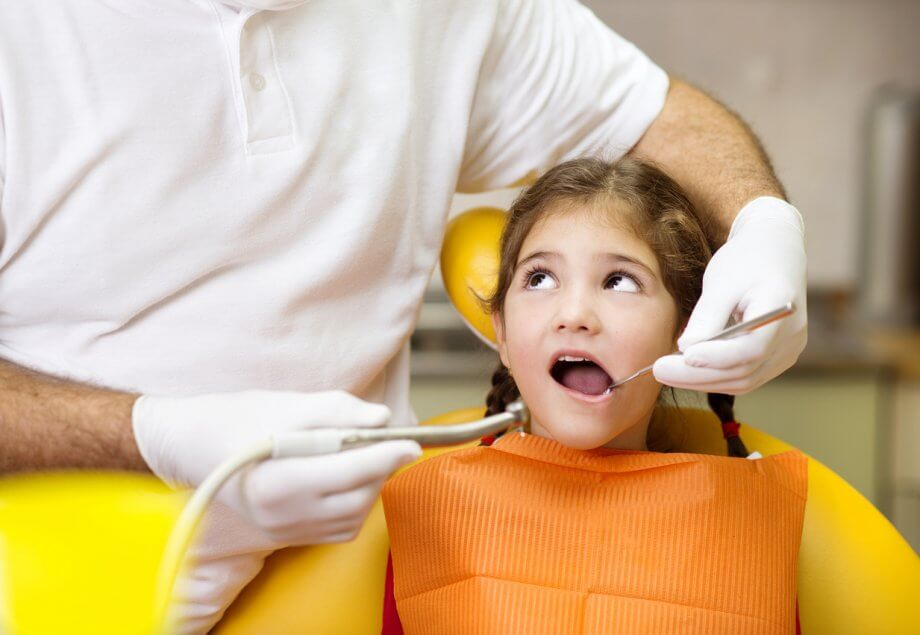 Dentist Checking For cavities In Little Girl